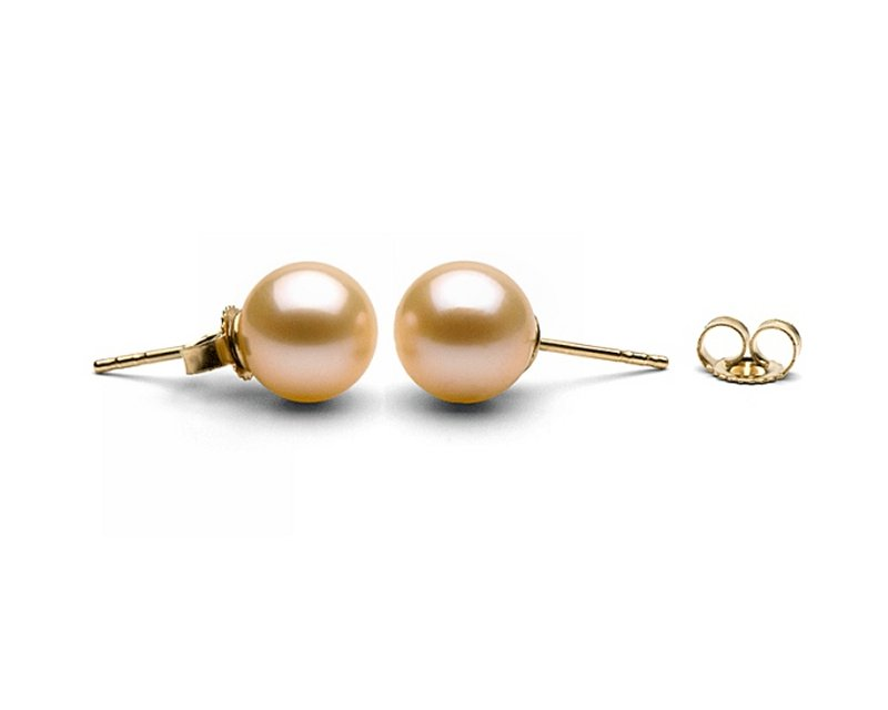 Pink pearl ear studs from Selectraders